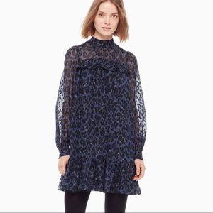 NWT Kate Spade Leopard Print Clip Dot Mini Dress